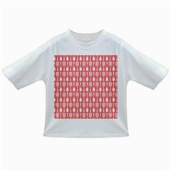 Coral And White Kitchen Utensils Pattern Infant/Toddler T-Shirts