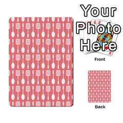 Coral And White Kitchen Utensils Pattern Multi Purpose Cards (rectangle)