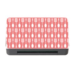 Coral And White Kitchen Utensils Pattern Memory Card Reader with CF