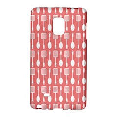 Coral And White Kitchen Utensils Pattern Galaxy Note Edge