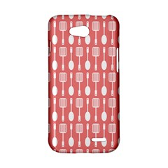 Coral And White Kitchen Utensils Pattern LG L90 D410