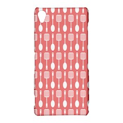 Coral And White Kitchen Utensils Pattern Sony Xperia Z3