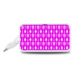 Purple Spatula Spoon Pattern Portable Speaker (White)