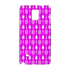 Purple Spatula Spoon Pattern Samsung Galaxy Note 4 Hardshell Case