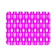 Purple Spatula Spoon Pattern Double Sided Flano Blanket (Mini)