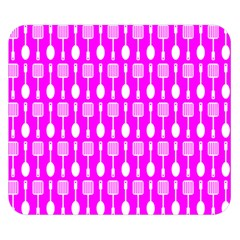 Purple Spatula Spoon Pattern Double Sided Flano Blanket (small)