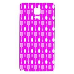 Purple Spatula Spoon Pattern Galaxy Note 4 Back Case