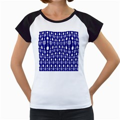 Indigo Spatula Spoon Pattern Women s Cap Sleeve T