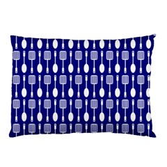 Indigo Spatula Spoon Pattern Pillow Cases