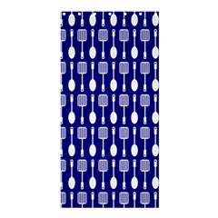 Indigo Spatula Spoon Pattern Shower Curtain 36  X 72  (stall)