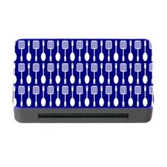 Indigo Spatula Spoon Pattern Memory Card Reader with CF
