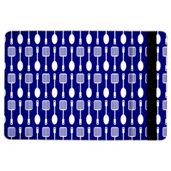 Indigo Spatula Spoon Pattern iPad Air 2 Flip