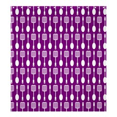 Magenta Spatula Spoon Pattern Shower Curtain 66  x 72  (Large)