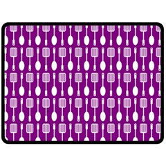 Magenta Spatula Spoon Pattern Fleece Blanket (Large)