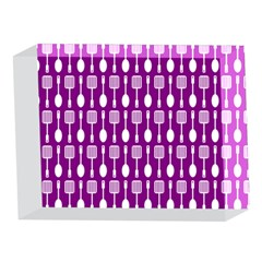 Magenta Spatula Spoon Pattern 5 x 7  Acrylic Photo Blocks