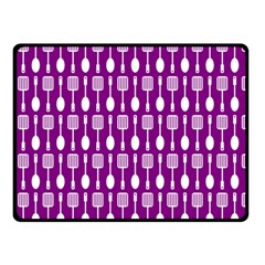 Magenta Spatula Spoon Pattern Double Sided Fleece Blanket (Small)