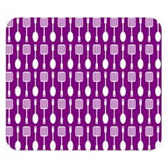 Magenta Spatula Spoon Pattern Double Sided Flano Blanket (Small)