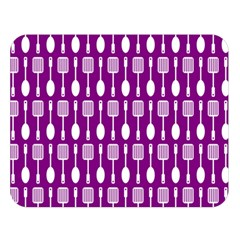 Magenta Spatula Spoon Pattern Double Sided Flano Blanket (Large)