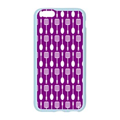 Magenta Spatula Spoon Pattern Apple Seamless iPhone 6 Case (Color)