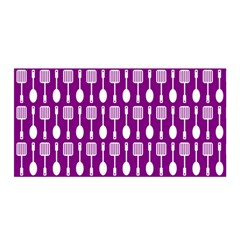 Magenta Spatula Spoon Pattern Satin Wrap