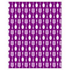 Magenta Spatula Spoon Pattern Drawstring Bag (Small)