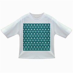 Teal And White Spatula Spoon Pattern Infant/toddler T Shirts
