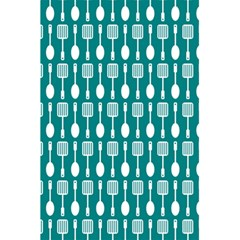 Teal And White Spatula Spoon Pattern 5.5  x 8.5  Notebooks