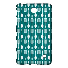 Teal And White Spatula Spoon Pattern Samsung Galaxy Tab 4 (8 ) Hardshell Case