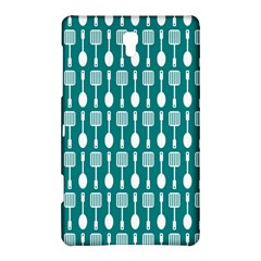 Teal And White Spatula Spoon Pattern Samsung Galaxy Tab S (8.4 ) Hardshell Case