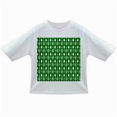 Green And White Kitchen Utensils Pattern Infant/Toddler T-Shirts