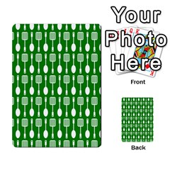 Green And White Kitchen Utensils Pattern Multi-purpose Cards (Rectangle)