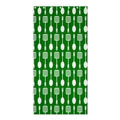Green And White Kitchen Utensils Pattern Shower Curtain 36  X 72  (stall)