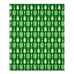 Green And White Kitchen Utensils Pattern Shower Curtain 60  x 72  (Medium)