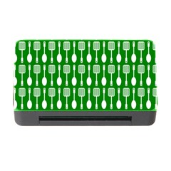 Green And White Kitchen Utensils Pattern Memory Card Reader with CF