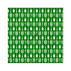Green And White Kitchen Utensils Pattern Acrylic Tangram Puzzle (6  x 6 )
