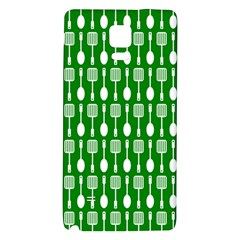 Green And White Kitchen Utensils Pattern Galaxy Note 4 Back Case