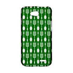Green And White Kitchen Utensils Pattern LG L90 D410