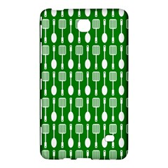 Green And White Kitchen Utensils Pattern Samsung Galaxy Tab 4 (8 ) Hardshell Case