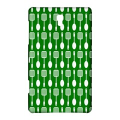 Green And White Kitchen Utensils Pattern Samsung Galaxy Tab S (8 4 ) Hardshell Case