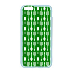 Green And White Kitchen Utensils Pattern Apple Seamless iPhone 6 Case (Color)