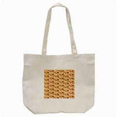 Colorful Ladybug Bess And Flowers Pattern Tote Bag (Cream)