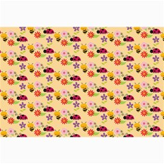 Colorful Ladybug Bess And Flowers Pattern Collage 12  x 18