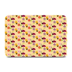 Colorful Ladybug Bess And Flowers Pattern Plate Mats