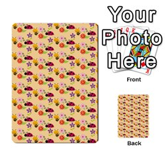 Colorful Ladybug Bess And Flowers Pattern Multi Purpose Cards (rectangle)
