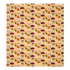 Colorful Ladybug Bess And Flowers Pattern Shower Curtain 66  X 72  (large)