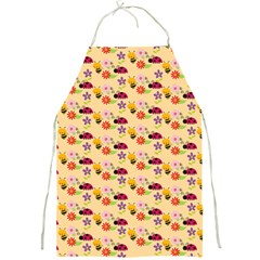 Colorful Ladybug Bess And Flowers Pattern Full Print Aprons