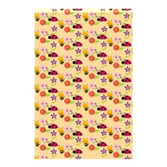Colorful Ladybug Bess And Flowers Pattern Shower Curtain 48  X 72  (small)
