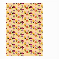 Colorful Ladybug Bess And Flowers Pattern Small Garden Flag (two Sides)