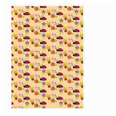 Colorful Ladybug Bess And Flowers Pattern Large Garden Flag (Two Sides)