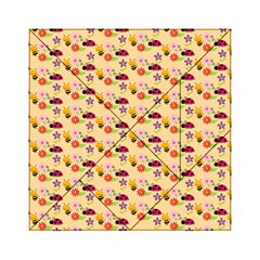 Colorful Ladybug Bess And Flowers Pattern Acrylic Tangram Puzzle (6  x 6 )